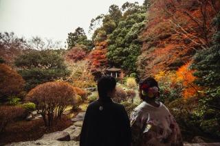 161207_京都_紅葉 和装 毘沙門堂