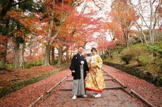 161232_京都_紅葉 和装 毘沙門堂