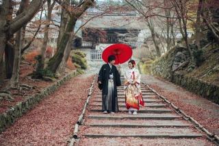 161214_京都_紅葉 和装 毘沙門堂