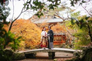 161210_京都_紅葉 和装 毘沙門堂