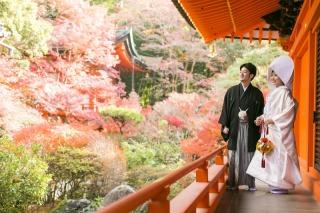 161243_京都_紅葉 和装 毘沙門堂