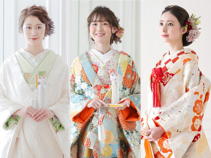 色打掛 着物が豊富な神奈川県のスタジオ 前撮り 結婚写真 フォト