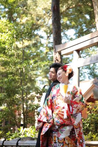 1612_埼玉_ロケーションフォト 神社&庭園和装