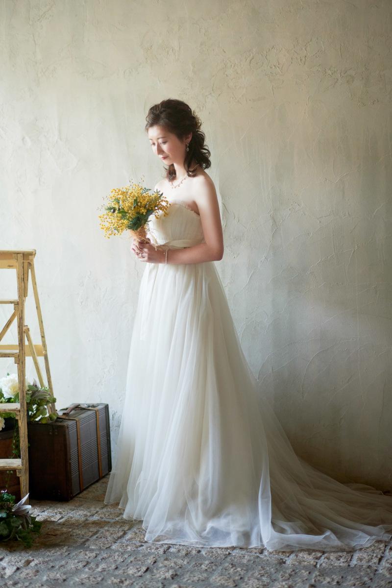 ドレスに着替えて奥様のソロ写真♡