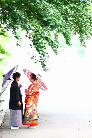 202013_東京_和装ロケーション撮影 @日本庭園