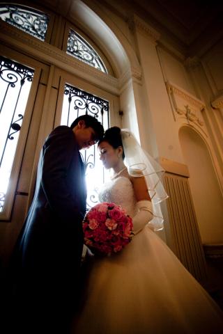 16608_東京_結婚式当日 メイクシーン・館内撮影