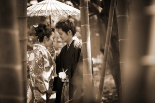 16783_東京_和装ロケーション撮影 @日本庭園