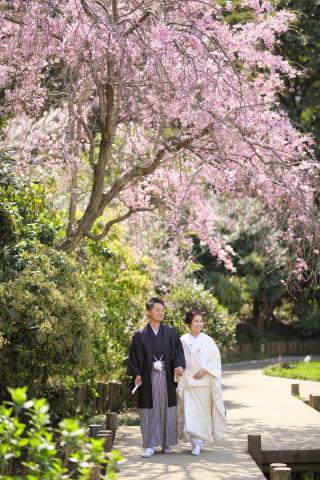 202144_東京_和装ロケーション撮影 @日本庭園