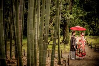 202142_東京_和装ロケーション撮影 @日本庭園