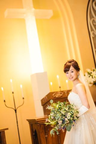 98955_東京_キャンドルの灯る幻想的なチャペル