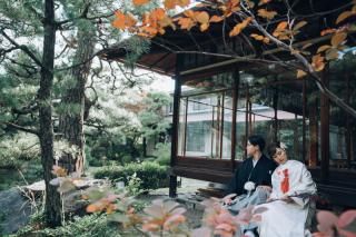 【日本庭園】和装1着ロケーション+洋装1着スタジオプラン レタッチ・アルバム付き