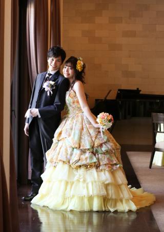 225930_愛知_色打・ウェディング・カラードレス チャペル・ガーデン撮影