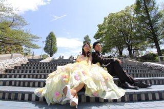 35645_神奈川_ロケーション洋装(山下公園/カラードレス)★スタジオ風景・物撮り