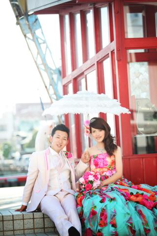 118391_広島_ロケーション撮影色ドレス
