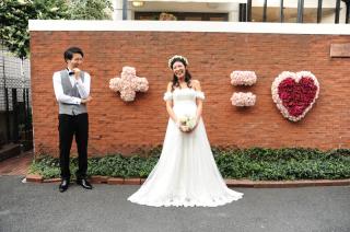 インスタ映えする東京都内原宿セントヴァレンタイン教会結婚式