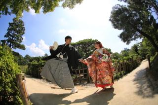 180288_広島_和装縮景園撮影