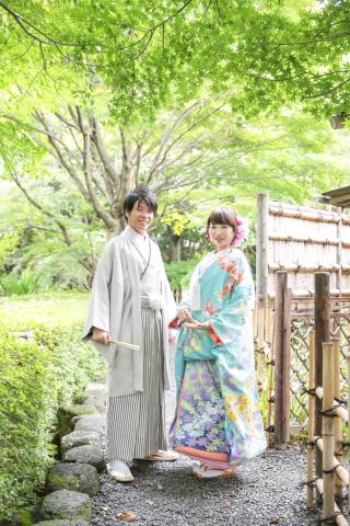 庭園で和装&チャペルで洋装が撮影出来る「ロケーション4点プラン」