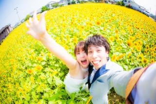 129398_徳島_季節の花のロケーション撮影