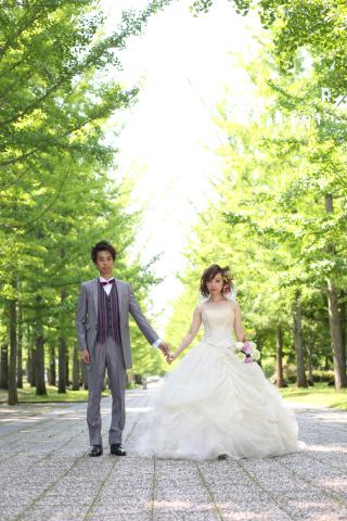 100147_山形_ロケーション(総合運動公園) ドレス&タキシード
