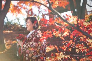 341571_群馬_和装紅葉とスタジオドレス