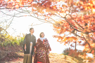 341580_群馬_和装紅葉とスタジオドレス