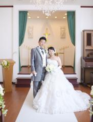 224600_石川_ドレスならチャペル♪館内の撮影もバリエーション豊富♪ドレスフォト