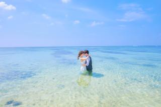 304442_沖縄_キラキラ輝く海☆青い空フォトウェディング(沖縄本島)