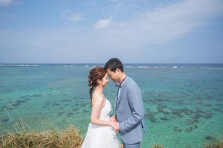 270962_沖縄_キラキラ輝く海☆青い空フォトウェディング(沖縄本島)