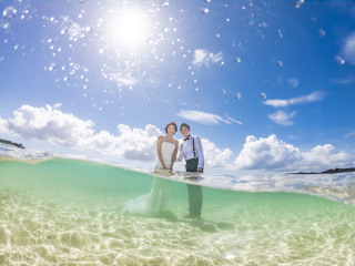 291167_沖縄_キラキラ輝く海☆青い空フォトウェディング(沖縄本島)