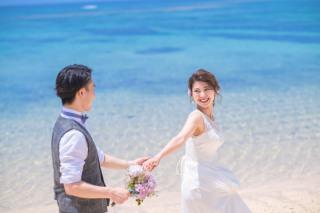 304439_沖縄_キラキラ輝く海☆青い空フォトウェディング(沖縄本島)