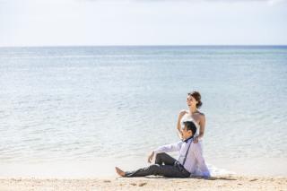 291171_沖縄_キラキラ輝く海☆青い空フォトウェディング(沖縄本島)