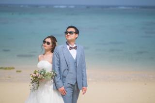 270967_沖縄_キラキラ輝く海☆青い空フォトウェディング(沖縄本島)