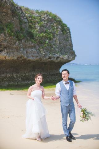 270968_沖縄_キラキラ輝く海☆青い空フォトウェディング(沖縄本島)
