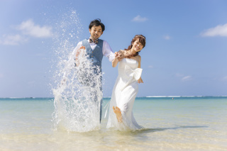 263977_沖縄_キラキラ輝く海☆青い空フォトウェディング(沖縄本島)