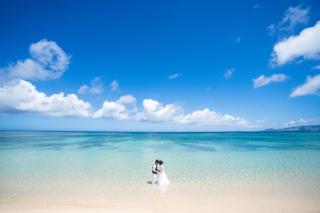291174_沖縄_キラキラ輝く海☆青い空フォトウェディング(沖縄本島)