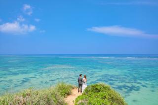 304443_沖縄_キラキラ輝く海☆青い空フォトウェディング(沖縄本島)