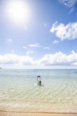 291168_沖縄_キラキラ輝く海☆青い空フォトウェディング(沖縄本島)
