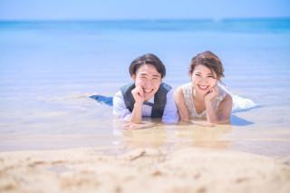 304441_沖縄_キラキラ輝く海☆青い空フォトウェディング(沖縄本島)