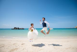 265869_沖縄_キラキラ輝く海☆青い空フォトウェディング(沖縄本島)