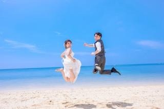 304440_沖縄_キラキラ輝く海☆青い空フォトウェディング(沖縄本島)