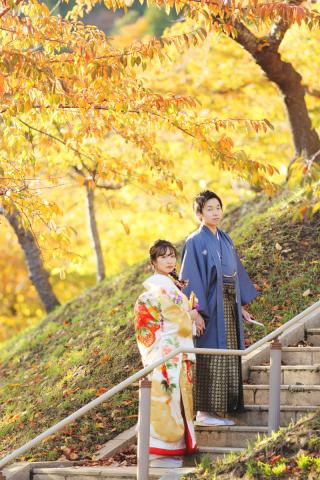 243930_北海道_【紅葉ロケフォト-秋autumn】紅葉×和装でHappy