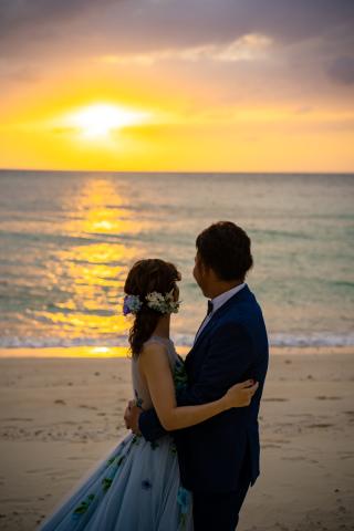 334143_沖縄_ロマンチックサンセット撮影