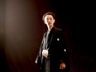 254272_東京_スタジオ撮影、色打ち掛け(黒)、白背景