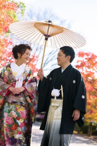 395018_兵庫_桜/紅葉シーズンのしあわせの村×色打掛&白無垢